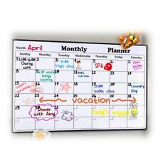 Monthly Whiteboard Calendar Magnetic Board Fridge Organiser Home Office School