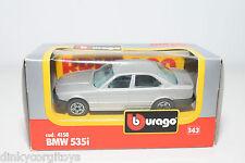 BBURAGO BURAGO 4158 BMW 535I 535 I METALLIC GREY MINT BOXED..