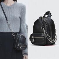 Women Wang Mini Leather Backpack Soft Xbody Crossbody Alexander Shaped Bag