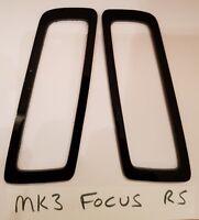 FORD FOCUS RS MK3 GLOSS BLACK ABS PLASTIC FOGLIGHT TRIMS