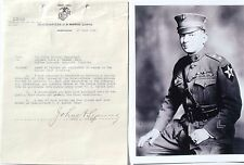 John A. Lejeune Signed Letter General Marine Corps 13th Commandant Marine Corps