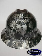 American Bully Full Brim New Custom MSA V-Gard Hard Hat W/Fas-Trac Ratchet