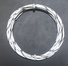 18 AWG Mil-Spec Wire (PTFE) Stranded Silver Plated Copper, Type E, Wht/Bk 10 ft