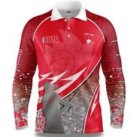 AFL 2020 Long Sleeve Fishing Polo Tee Shirt - Sydney Swans - Adult Youth