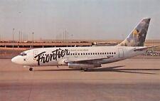 Frontier B-737-200  Airplane Postcard