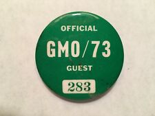 Pro Golfer Jerry McGee's 1973 Greater Milwaukee Open Official Guest Entry Badge
