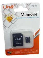 Scheda Di Memoria Memory Card TF Microsd 4GB + Adattatore Sd linq Tfsd-4gb