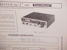 1972 PEARCE-SIMPSON CB RADIO SERVICE SHOP MANUAL MODEL COUGAR 23