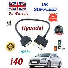 For Hyundai i40 iPhone 3gs 4 4s iPod USB & 3.5mm Aux Audio Cable 2012+
