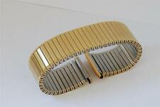 20mm to 25mm GOLD PLATED S/S FIXO FLEX STYLE EXPANDING, EXPANDER WATCH BRACELET