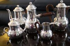 Service thé café chocolatière sucrier cafetière théière pot à lait ARGENT massif
