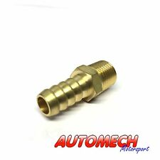 Sytec Quality Brass Straight Fuel Pump Union, 1/8 NPTF to 8mm Push On (FPA903A)