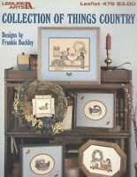 Collection Of Things Country Cross Stitch Patterns 1986 Leisure Arts # 479 Decoy