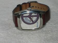 Fossil Es-2305 Women's Watch Peace Analog Dial Brown Leather