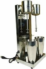 Commercial Double Head Drink Mixer Stainless Steel Milk Shake Machine 110v