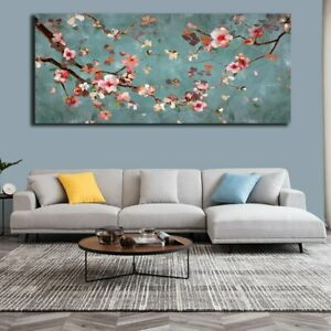 Plum Blossom Oil Painting Printed on Natural Flowers Poster And Prints Canvas