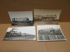 CHEMINS DE FER ensemble de 4 anciennes photographies locomotives à vapeur