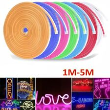 Modern DC 12V Flex LED Strip Neon Rope Light Silicone Indoor/Outdoor Sign Decor