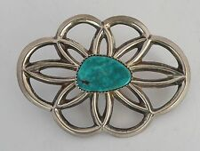 tie or pendant A+ grade Turquoise Native American, Navajo sandcast sterling bolo