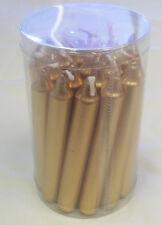 """Christmas Tree Angel 4"""" Chime Party Candles - Gold 20 Pack"""