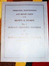Brown&Sharpe Operator Manual~Part~2 2B Grinding Machine