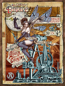 Steampunk Empire, Alchemy, Gothic, Fairy, Engine, Small Metal Tin Sign, Picture