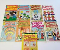 Dennis the Menace Comic Book Lot of 9 1978 Vintage a