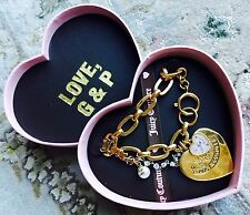 """Beautiful Boxed Original & Authentic """"Juicy Couture"""" Gold Plated Charm Bracelet"""