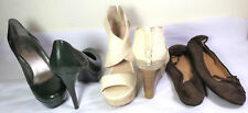 Lot 3 Shoes High Heels GUESS Pump INC White Sandals  J CREW Flats sz 36.5 6.5