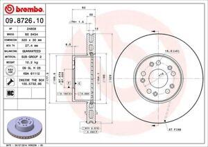 Disc Brake Rotor-Base Front Brembo 09.8726.10