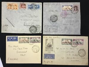 EGYPT 1935/42-- 4 x COVER ( SIMON ARZT) TO ENGLAND - 2 x CENSOR --F/VF