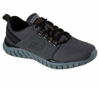 Skechers shoes Wide Fit Men Charcoal Memory Foam Sport Comfort Casual Mesh 52821