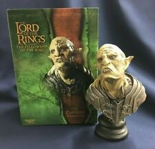 Sideshow WETA Lord of the Rings Fellowship of the Ring Orc Overseer 1/4 Bust NEW