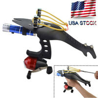 Bow Fishing Slingshot Kit Catapult Bowfishing Darts Reel Set Archery Hunting