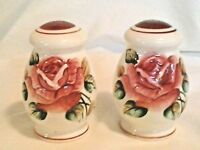 MADE IN JAPAN FLORAL SALT AND PEPPER SHAKERS #955