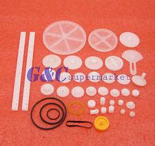 34 Kinds Plastic Shaft Rack Reduction Worm Gears Belt Pulley Diy For Robot Kit