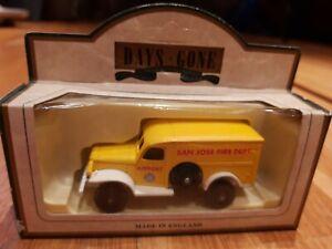 Lledo Diecast Model Of A 1942 Yellow Dodge 4x4 - SAN JOSE FIRE DEPT No 29007
