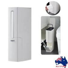 Bathroom Trash Can Set Toilet Brush Bathroom Waste Bin Dustbin Garbage Bin White