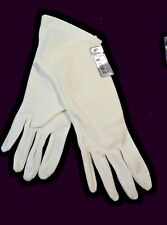 Ivory  Nylon  Dress Gloves 7½-8½ Size Foil sown on tag  New  Made in U.S.A.