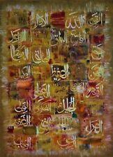 Islamic Arabic Koran 100% Handmade Calligraphy Art Painting 99 Names of Allah