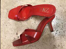 Zara Red Slides Sandals Size 7.5