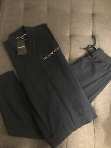 NWT. Emporio Armani Pajama-Tracksuit Women's Large Jogger/ Bedazzled Navy