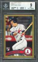 Mike Trout Rookie Card 2011 Topps Update Gold #Us175 Angels BGS 9 (9.5 9 9.5 9)