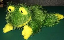 """Ty The Punkies Collection Hopscotch Fuzzy Green Frog 2002 No Heart Tag 9"""" L Euc"""