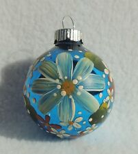Vintage Shiny Brite Hand Painted Mercury Glass Christmas Ornament Ball #3653