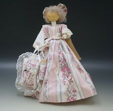 Pine Baroness El Krauss Wood Colonial Mamie Doll With Sewing Accessories 10""