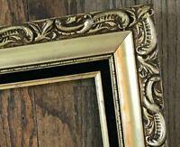 Vtg Gold Hollywood Regency Ornate Baroque Wood Carved Picture Photo Frame 16x20