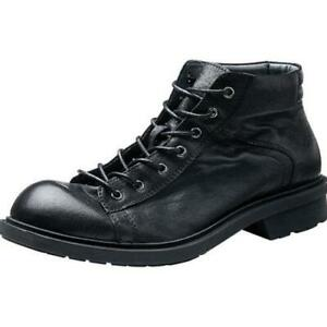 Retro Men High Top Real Leather Tooling Ankle Boots Shoes Business Biker Party L