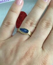 "Anna Beck ring ""Gili"" Sapphire 18K Gold Plated Silver 925 Size- 5 NEW$250"