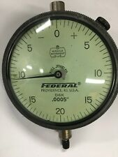 Federal D6k Dial Indicator With Lug Back 0 100 Range 0005 Graduation
